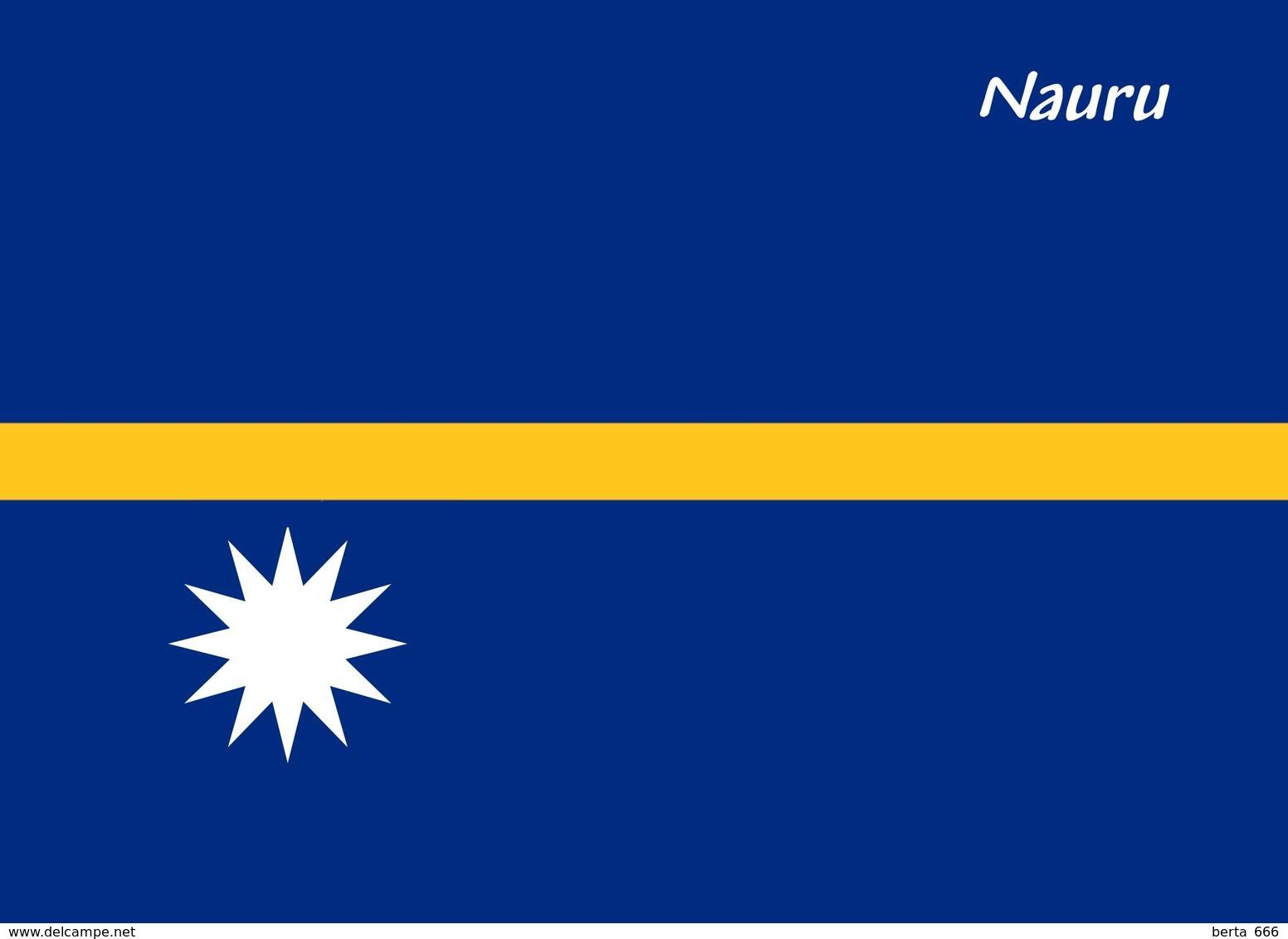 Nauru Island Flag New Postcard Flagge AK - Nauru