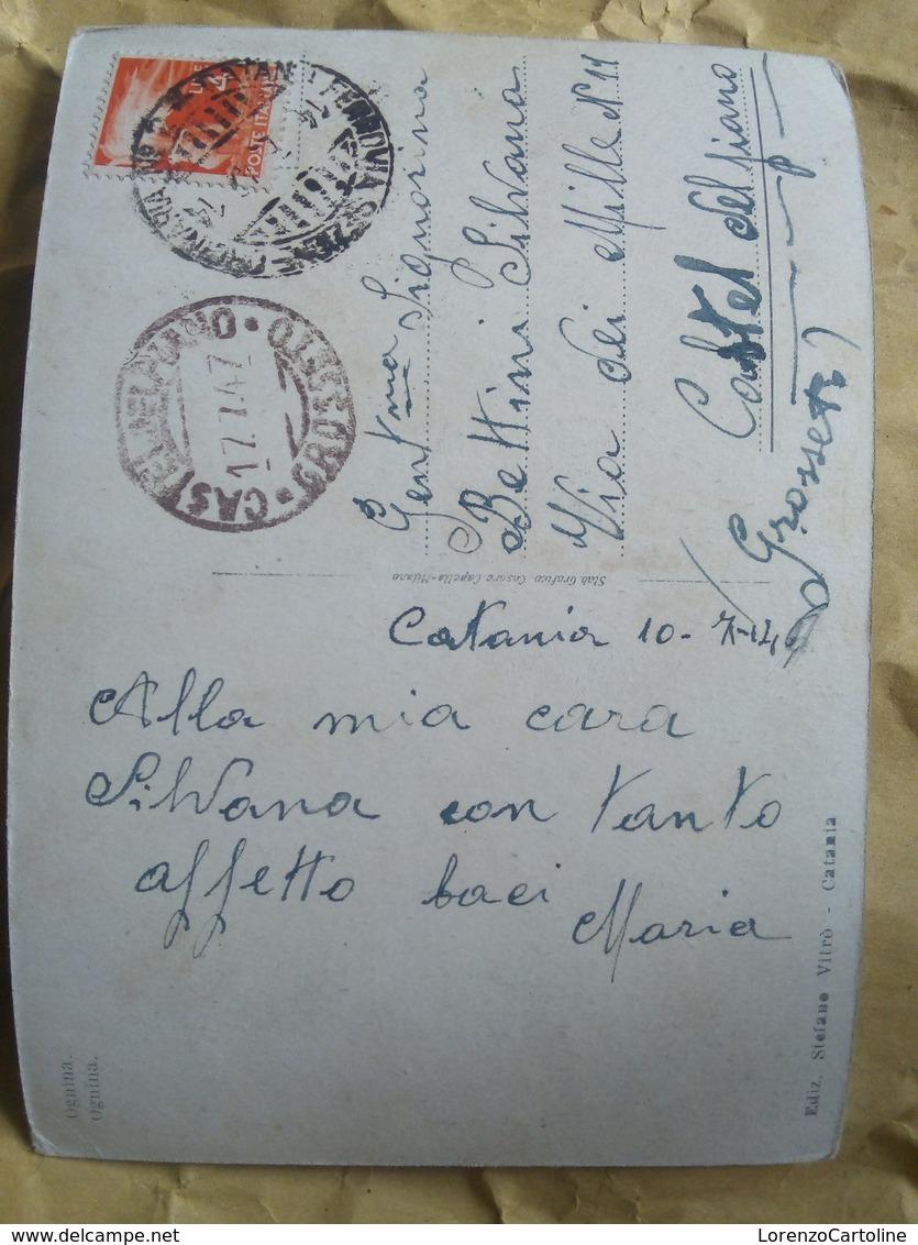 1947 Catania Ognina VIAGGIATA Animata - Catania