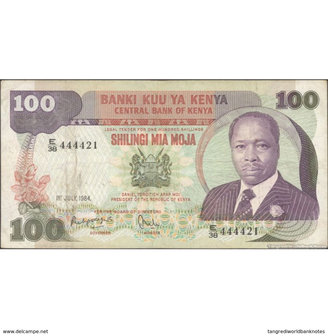 TWN - KENYA 23c - 100 Shillings 1.7.1984 E/38 444421 F+ - Kenya