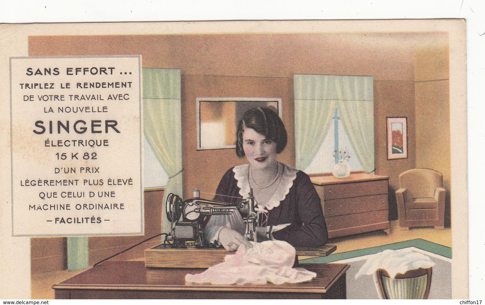 CPA   Publicité Machine à Coudre SINGER - Advertising