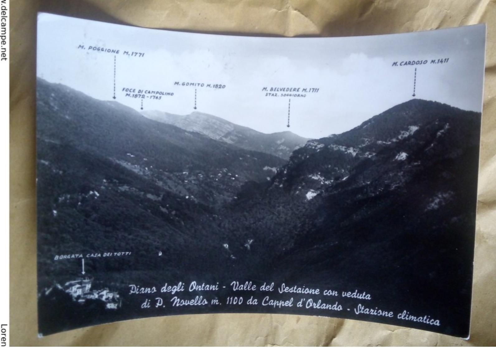 Piano Degli Ontani Valle Del Sestaione Novello Cappel D'Orlando VIAGGIATA 1957 - Pistoia