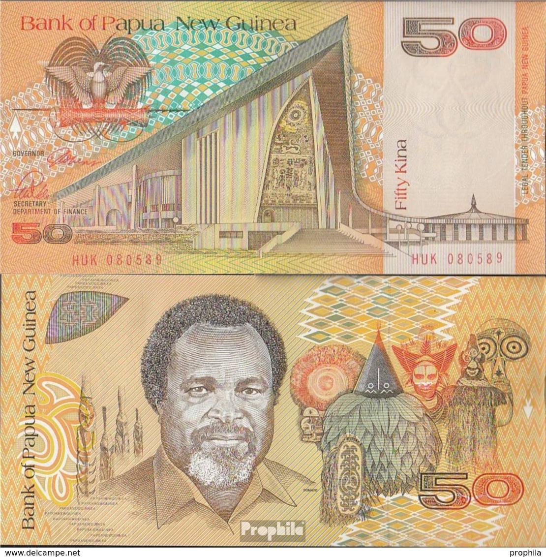 Papua-Neuguinea Pick-Nr: 11a Bankfrisch 1989 50 Kina - Papua New Guinea