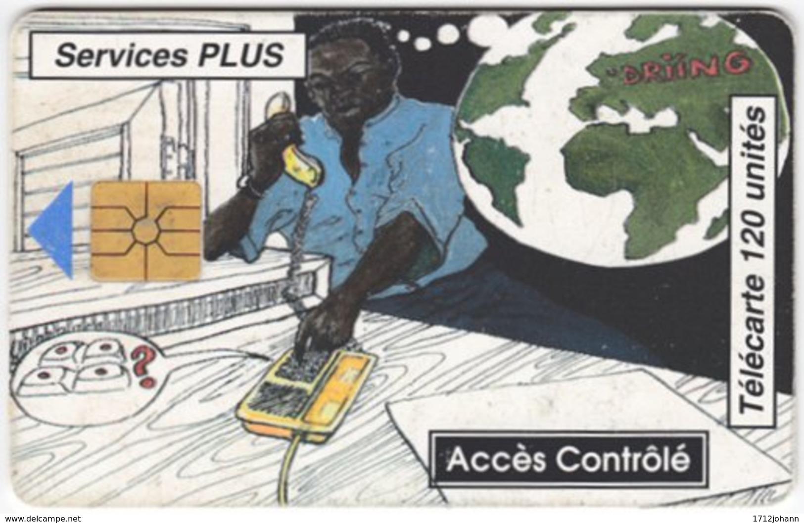BENIN A-046 Chip L'OPT - Cartoon Communication, Telephone - 120 Units - Used - Benin