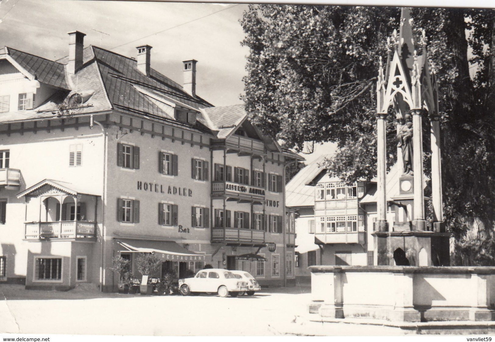 NIEDERDORF-VILLABASSA-BOZEN-BOLZANO-PENSIONE=AQUILA-ADLER=CARTOLINA VERA FOTOGRAFIA VIAGGIATA IL 7-8-1967 - Bolzano (Bozen)