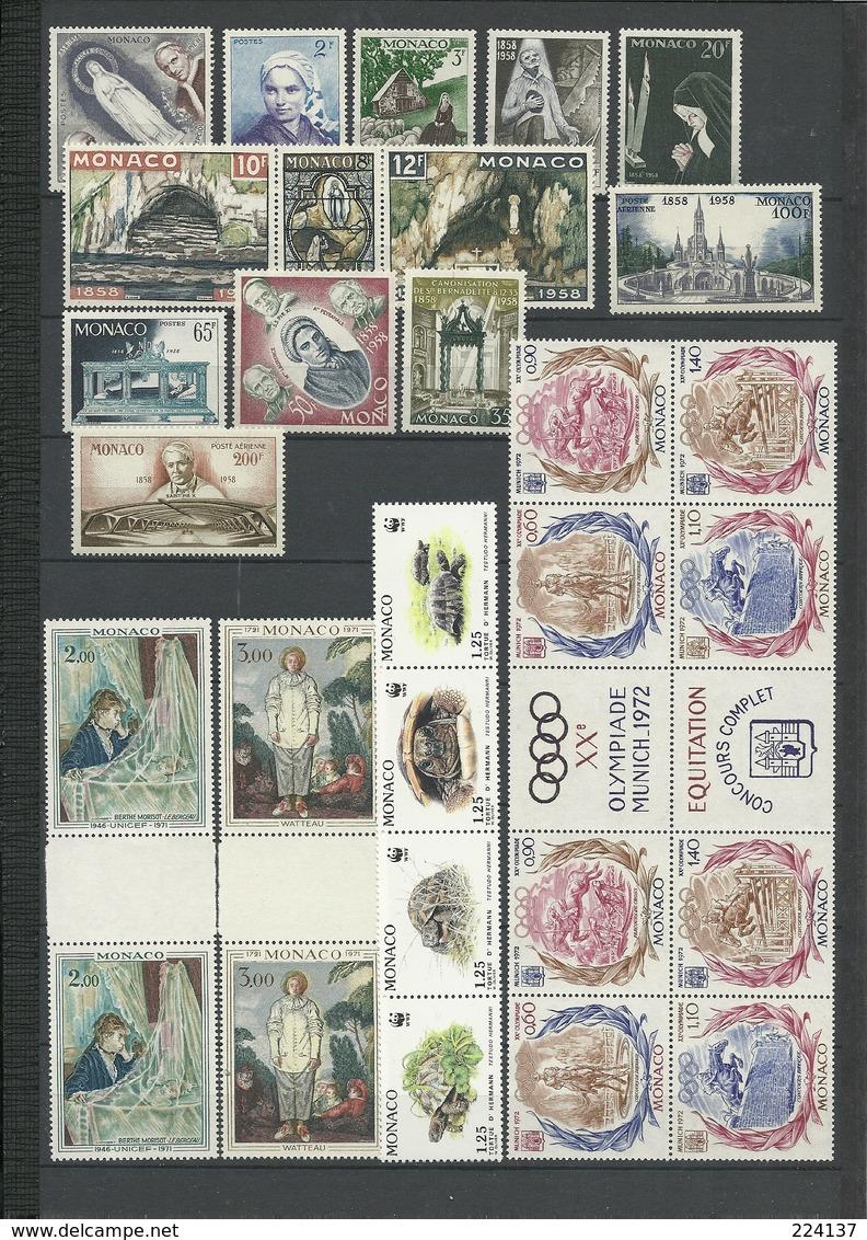 LOT MONACO NEUFS ET OBLITERES - Stamps