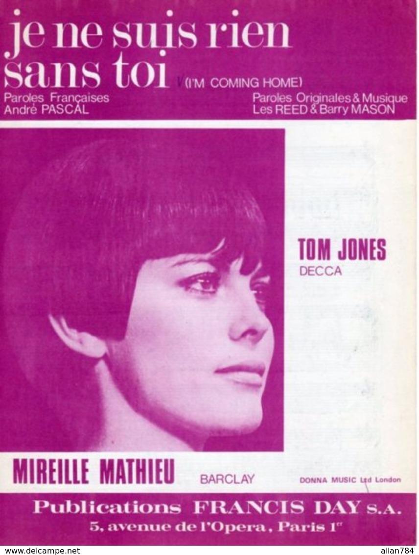 PARTITION MIREILLE MATHIEU - JE NE SUIS RIEN SANS TOI - 1967 - EXC ETAT PROCHE DU NEUF - - Musique & Instruments