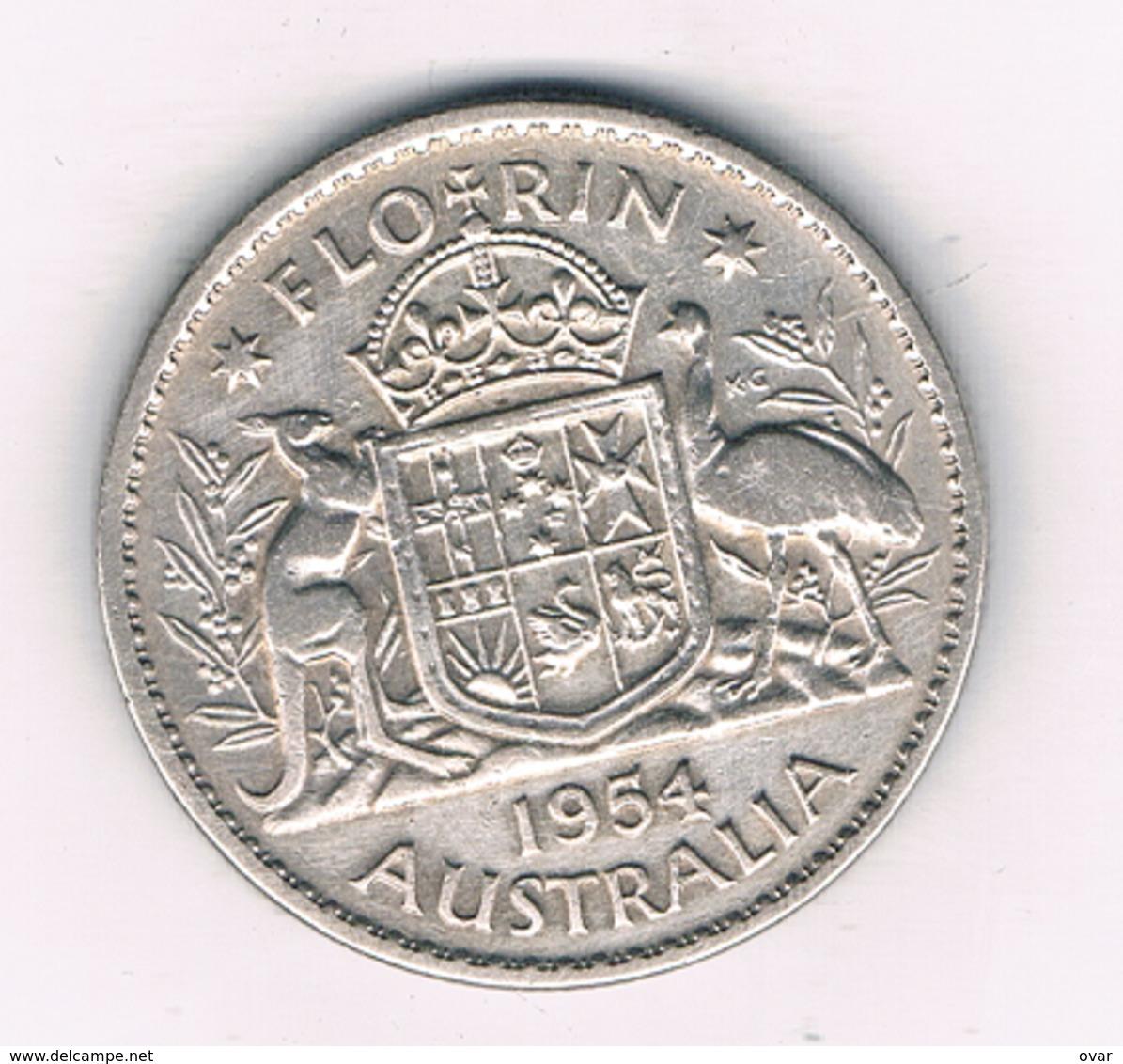 FLORIN 1954 AUSTRALIE /5913/ - Monnaie Pré-décimale (1910-1965)
