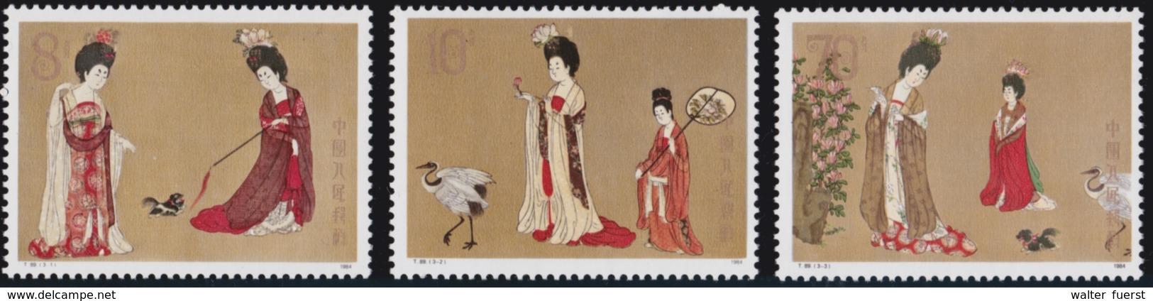 """CHINA 1984  T89, """"Beauties Wearing Flowers"""", Serie Mnh + Souvenir Sheet Mint, Never Hinged - 1949 - ... République Populaire"""