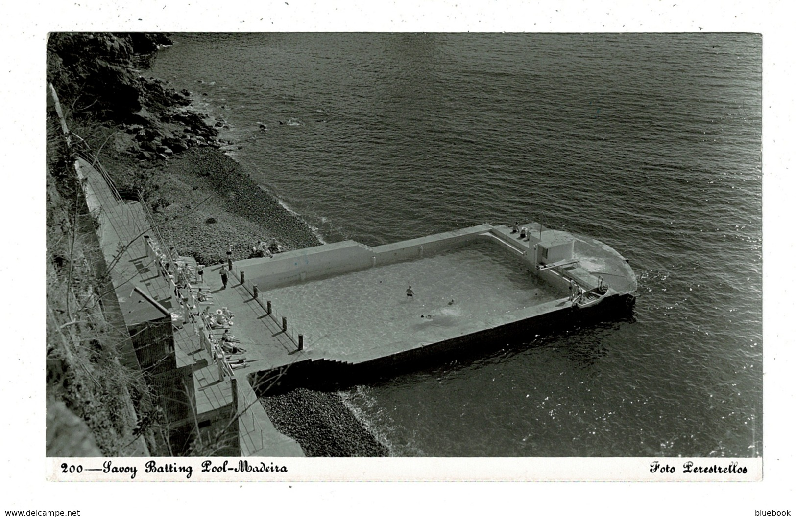 Ref 1313 - 1953 Real Photo Postcard - Savoy Bathing Pool - Madeira Portugal 1$50 Rate To UK - Madeira