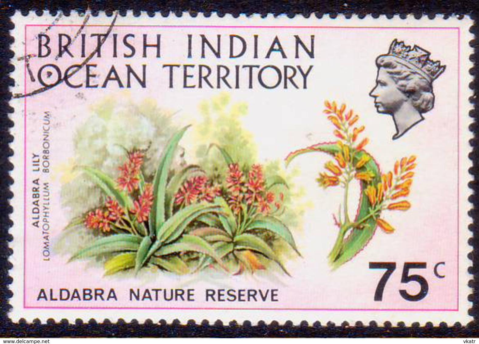 British Indian Ocean Territory 1971 SG #37 75c Used Aldabra Native Reserve - British Indian Ocean Territory (BIOT)