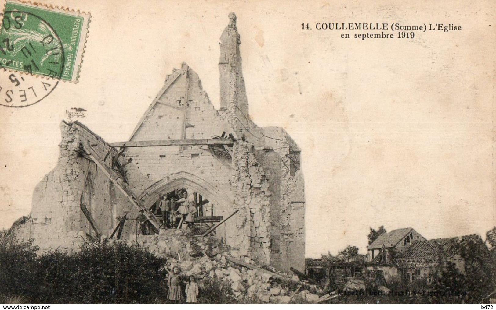 COULLEMELLE  ( 80 ) - L' église En 1919 - France