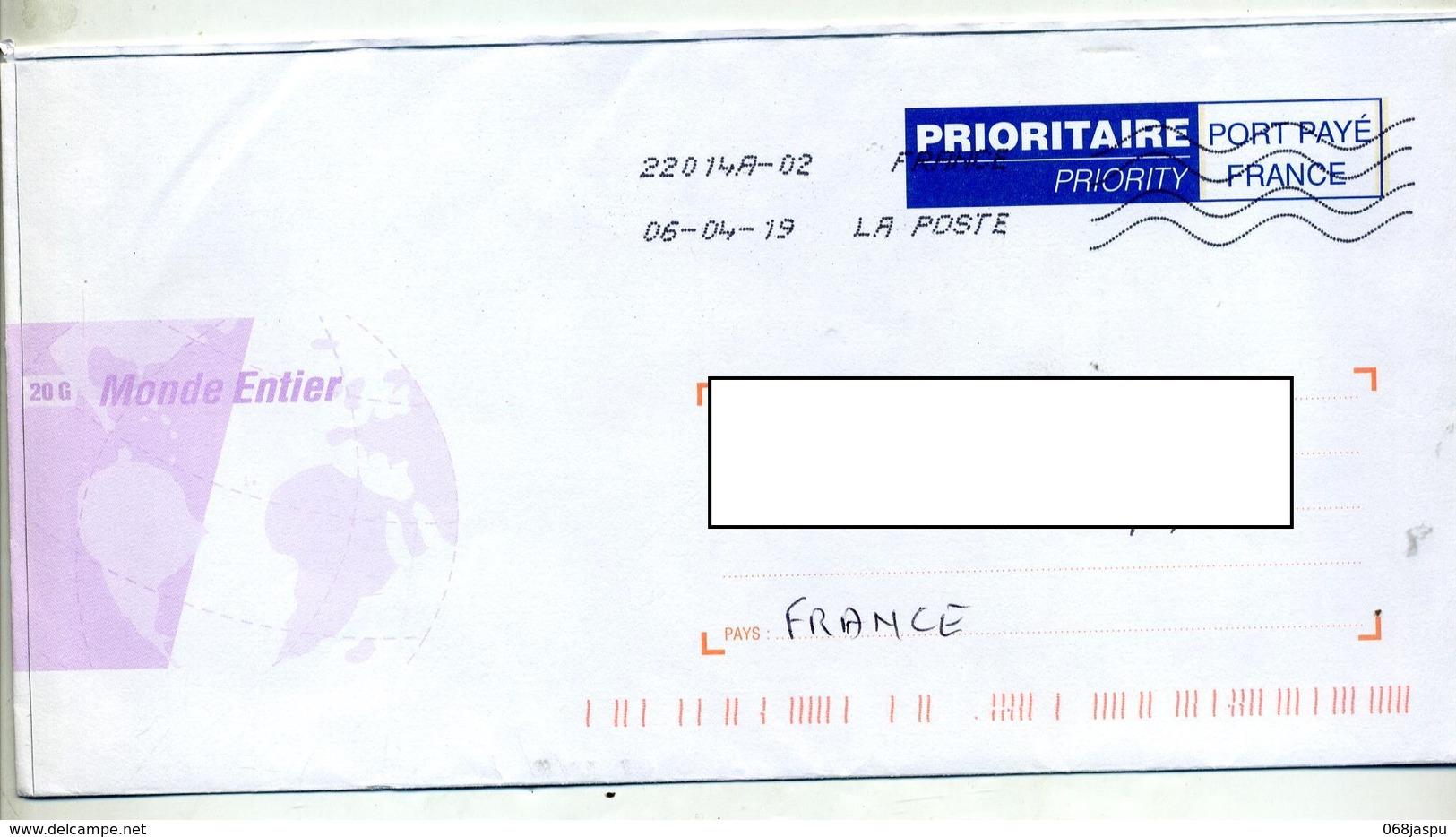 Pap Port Paye France Flamme Chiffree Sous Code - Entiers Postaux