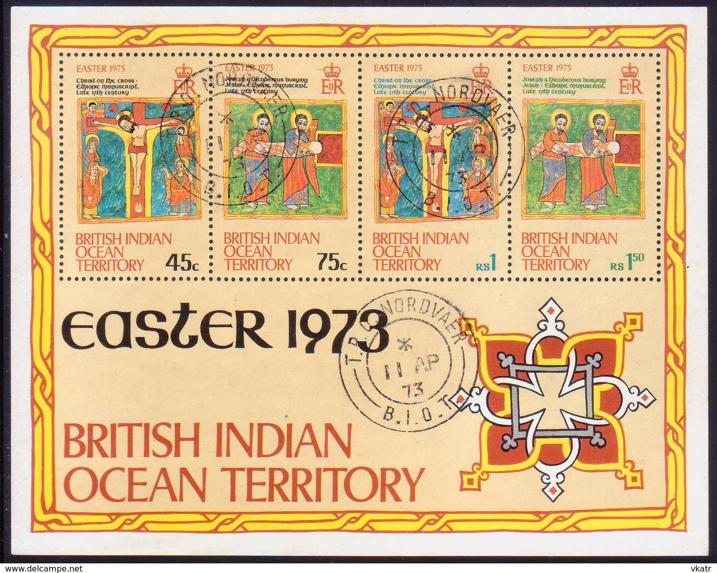 British Indian Ocean Territory 1973 SG #47-51 Compl.set+m/s Used Easter - British Indian Ocean Territory (BIOT)