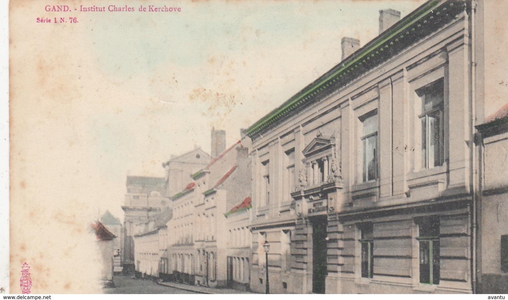 GENT  / INSTITUUT CHARLES DE KERCKHOVE / SUGG KAART  1907 - Gent