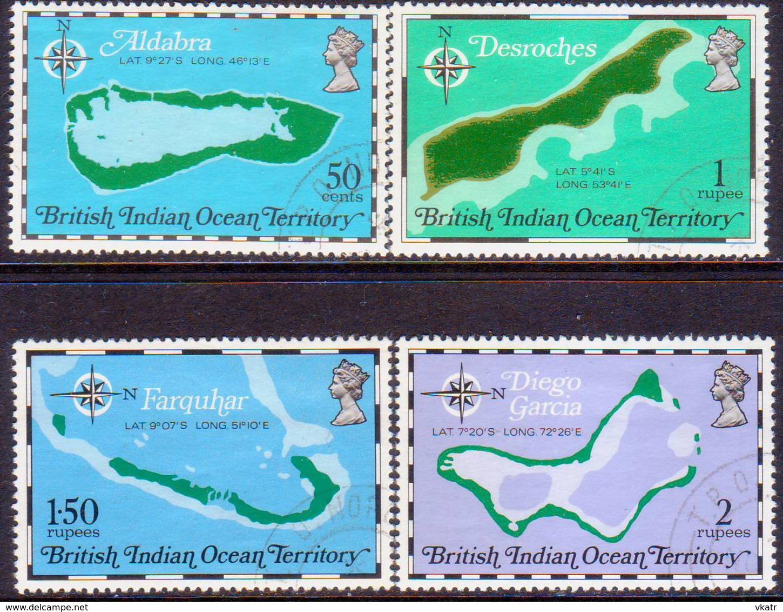 British Indian Ocean Territory 1975 SG 81-85 Compl.set+m/s Used 10th Anniv Of Territory - British Indian Ocean Territory (BIOT)