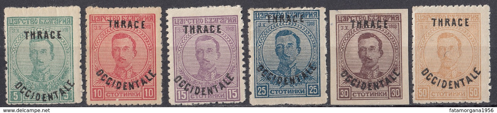 TRACIA Occidentale - 1920 - Serie Completa Nuova MH Composta Da 6 Valori: Yvert 51/56. - Thrace