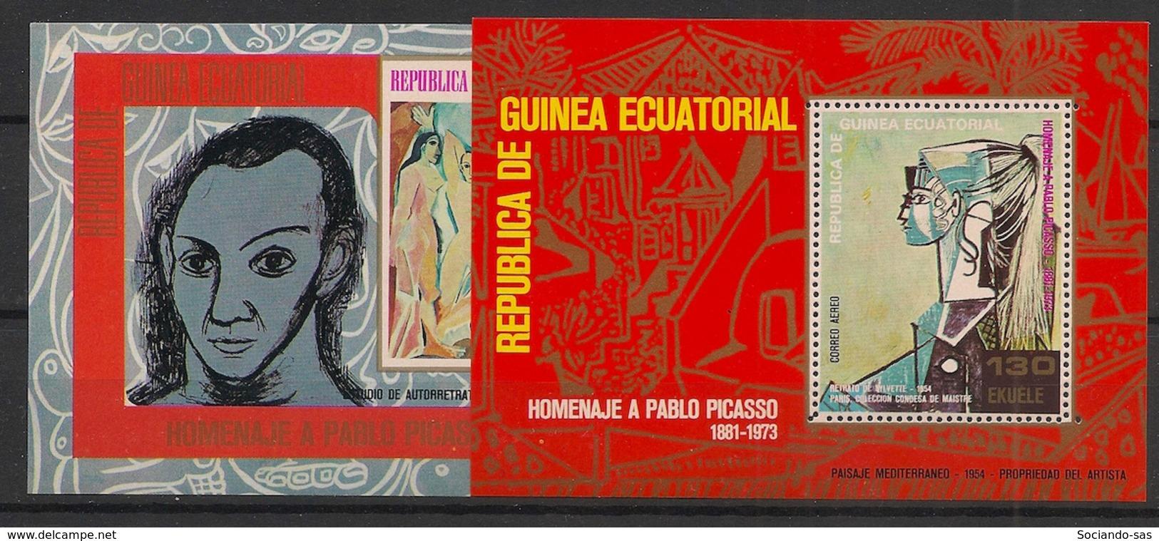 Guinée  équatoriale - 1974 - N°Mi. Bloc 115 à 116 - Picasso - Neuf Luxe ** / MNH / Postfrisch - Picasso