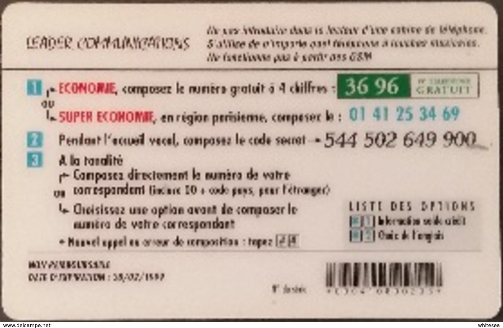 Prepaidcard Frankreich - Leader Communications - Eiffelturm - Freiheitsstatue - 60 Units (1) - Frankreich
