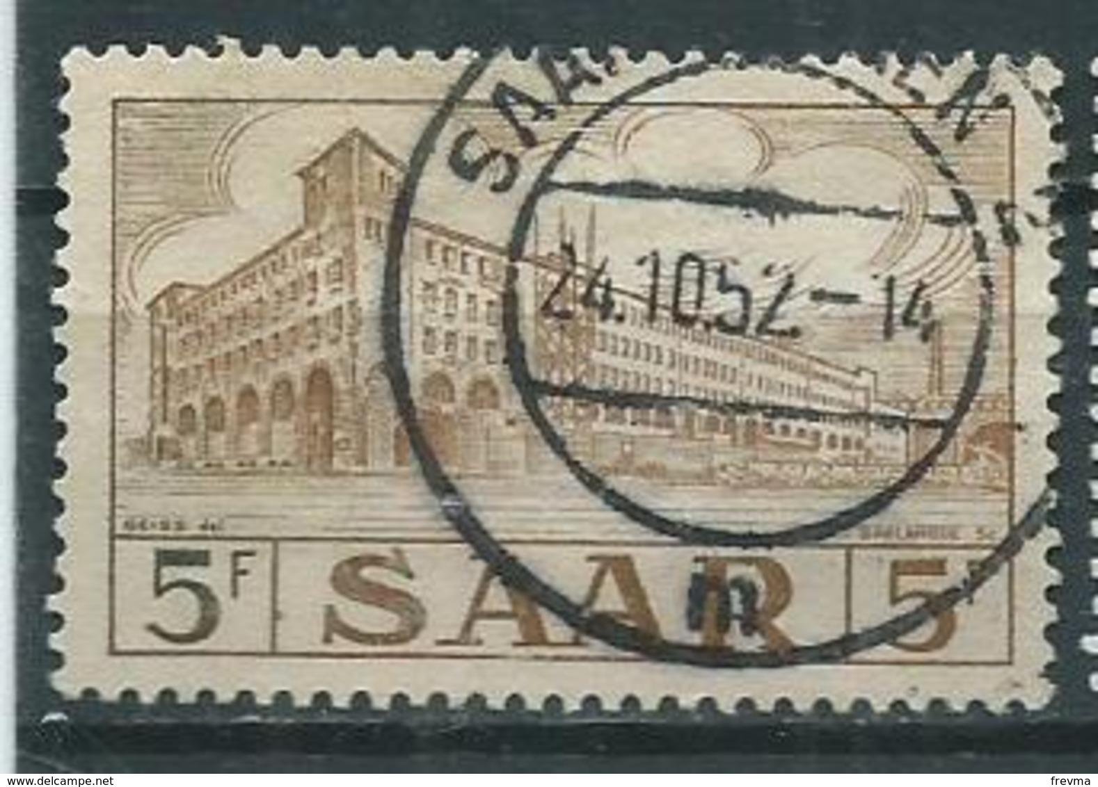 Timbre Saar 1952-53 Poste De Sarrebruck - 1947-56 Allierte Besetzung