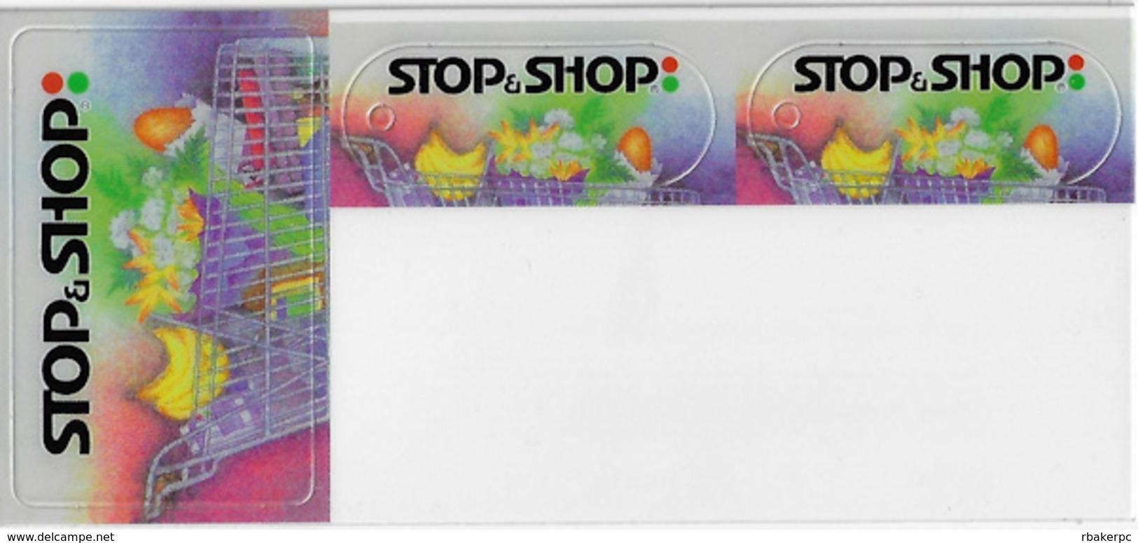Stop & Shop Customer Loyalty 3 Card Set - 8x3.5 Inches - 1 Full Size Card + 2 Keyring Cards - Other Collections