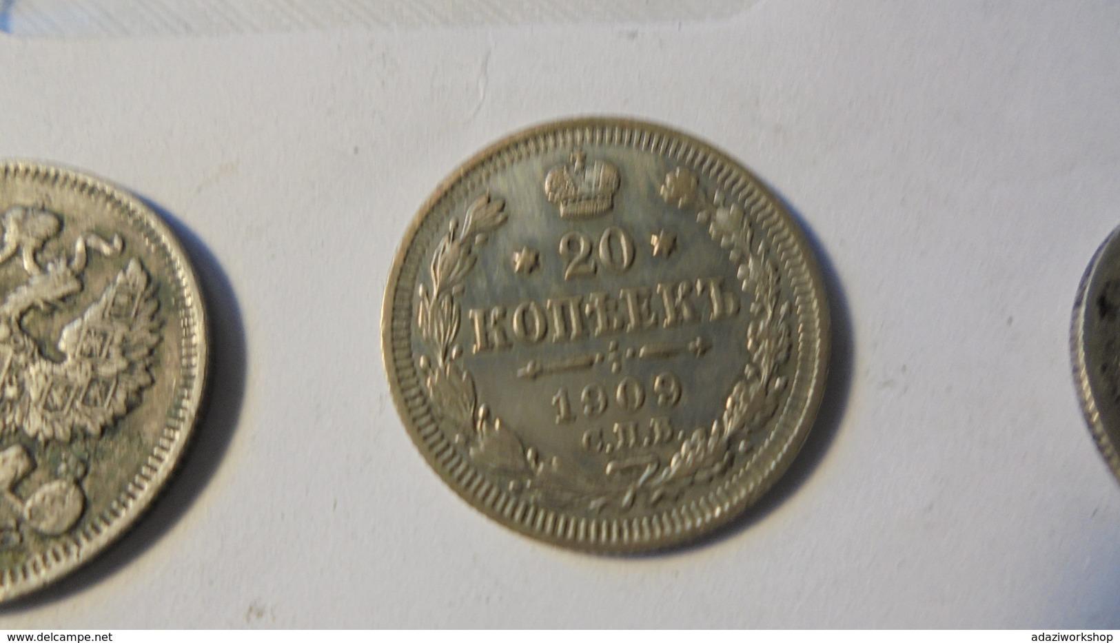 Russia 1909  Nicholas 2 20 Kop Silver - Russie