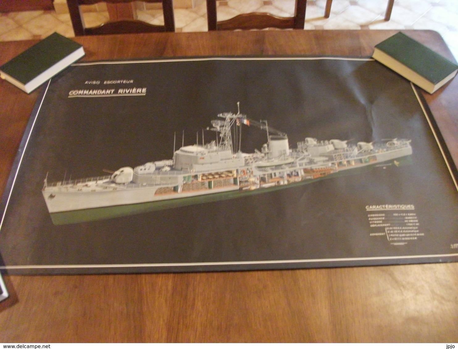 Plan Aviso Escorteur Commandant Rivière - Boten