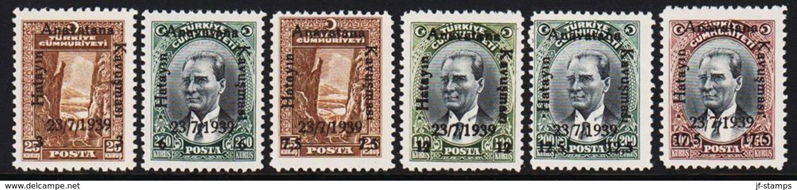 1939. Hatayin Anavatana Kavusmasi 23 7 1939. 6 Ex.  (Michel 1053 - 1058) - JF303680 - Nuevos