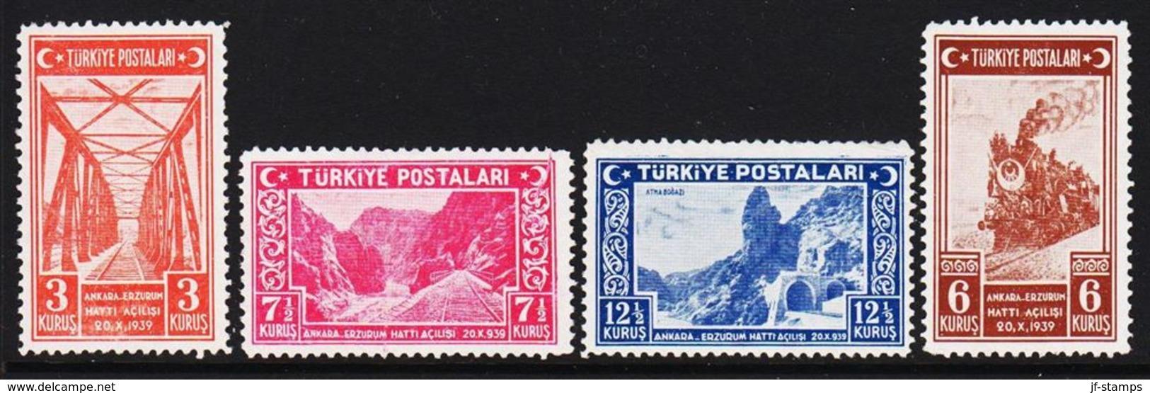 1939. Eisenbahn Ankara - Erzurum. 4 Ex.  (Michel 1059 - 1062) - JF303681 - Nuevos