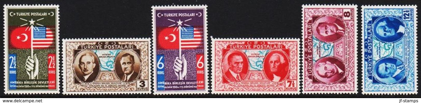 1939. USA. 6 Ex.  (Michel 1047 - 1052) - JF303682 - Nuevos