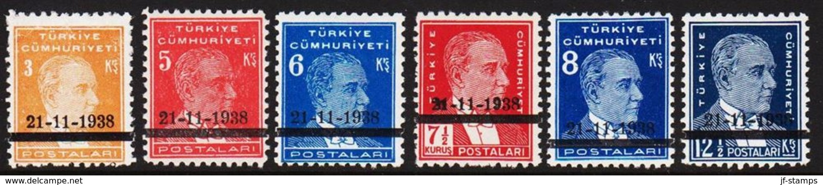 1938. 21-11-1938. Complete Set With 6 Stamps. (Michel 1041-1046) - JF303702 - Nuevos