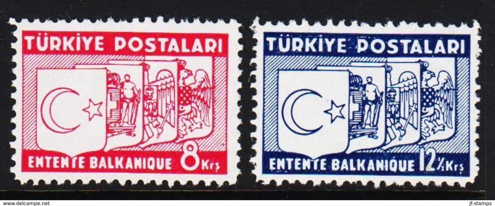 1937. Balkan-Bund 2 Ex. (Michel 1014 - 1015) - JF303707 - Nuevos