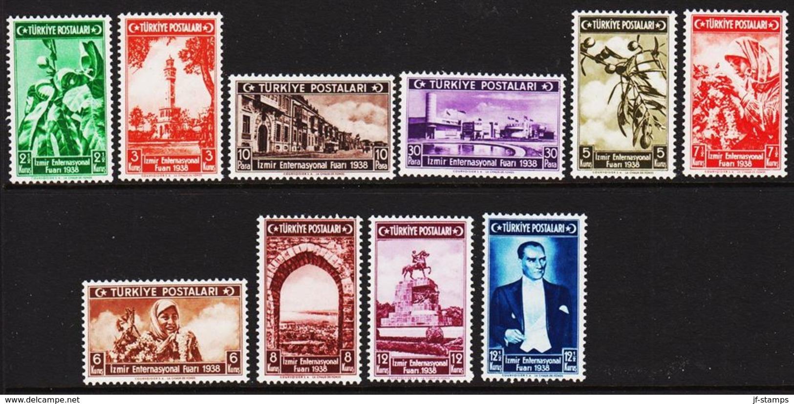 1938. Int. Munstermesse  10 Ex. (Michel 1019 - 1028) - JF303709 - Nuevos