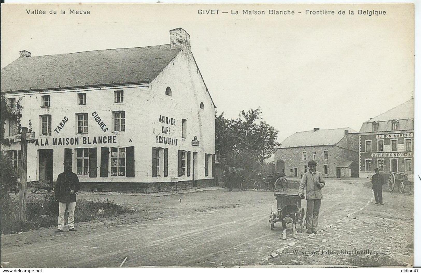 GIVET - La Maison Blanche - Frontière De La Belgique - Givet