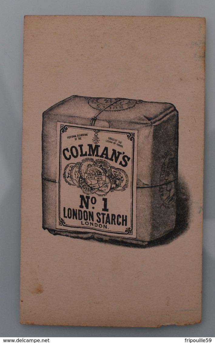 Publicité - Image - Chromo - Moutarde Colman's Starch - 14x8,3 Cm - Vers 1900 - Other
