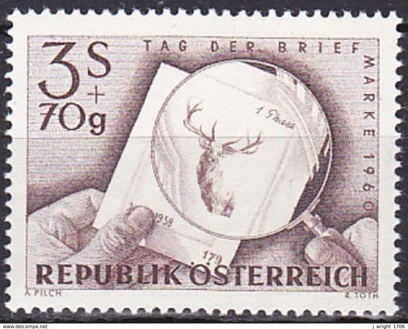 Austria/1960 - Stamp Day/Tag Der Briefmarke - 3 S + 70 Gr - MNH - 1945-60 Ungebraucht