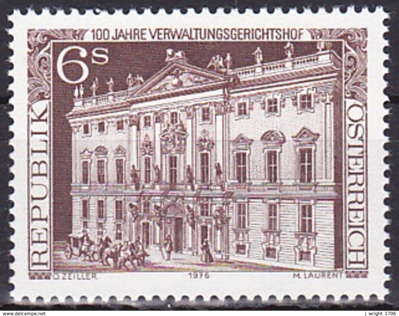 Austria/1976 - Administrative Court Centenary/100 Jahre Verwaltungsgerichtshof - 6 S - MNH - 1945-.... 2nd Republic