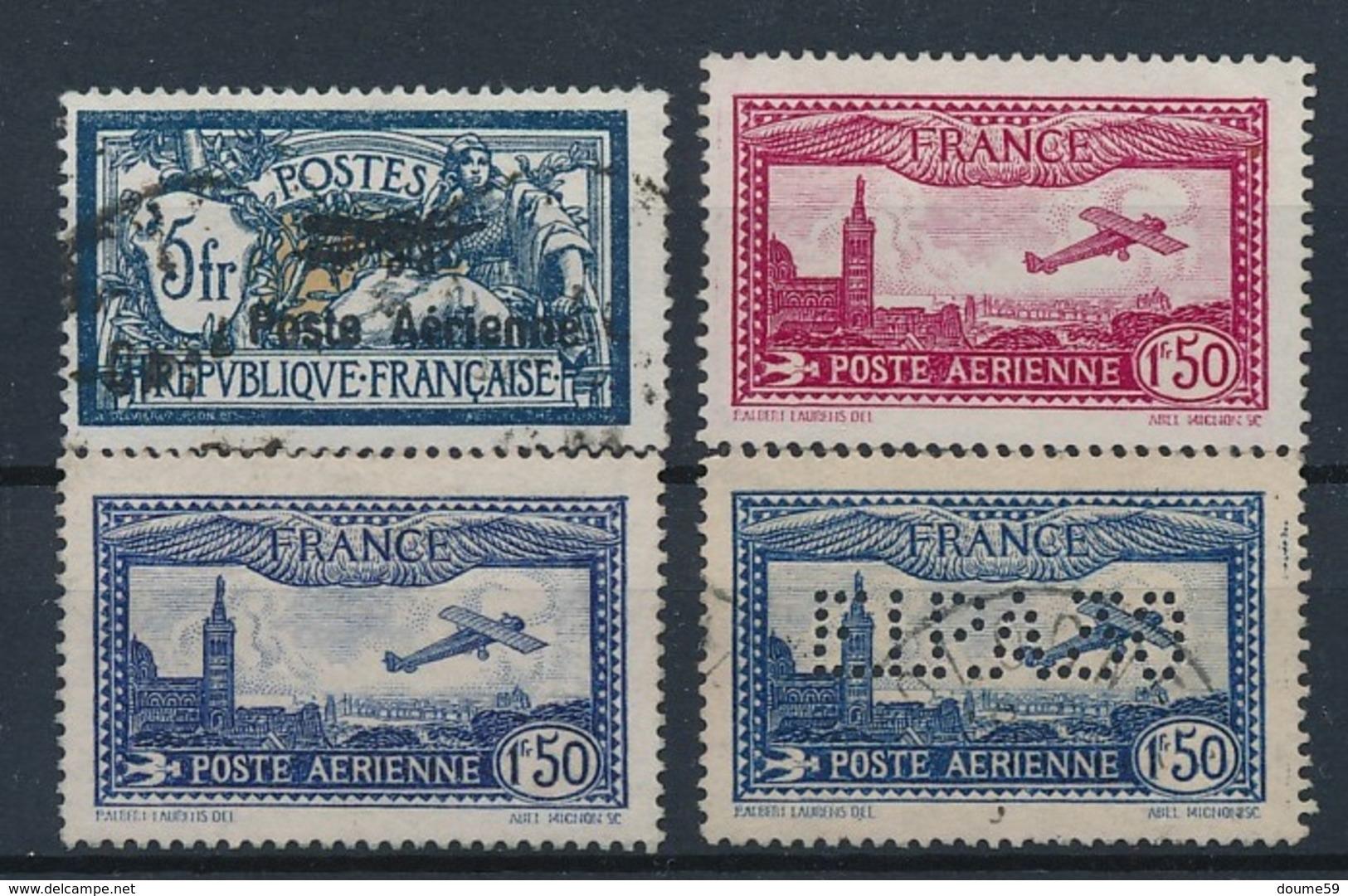 DA-31: FRANCE: Lot PA N°2 Obl (faux?)-5/6**GNO-6c Obl( FAUX) - Poste Aérienne