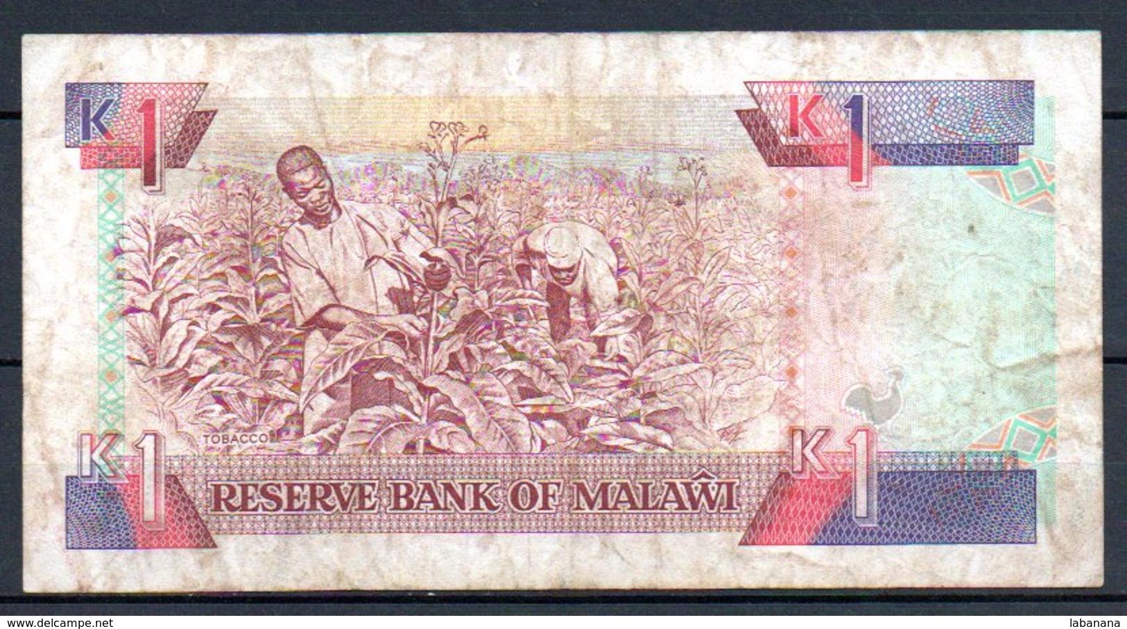 329-Malawi Billet De 1 Kwacha 1992 CZ628 - Malawi