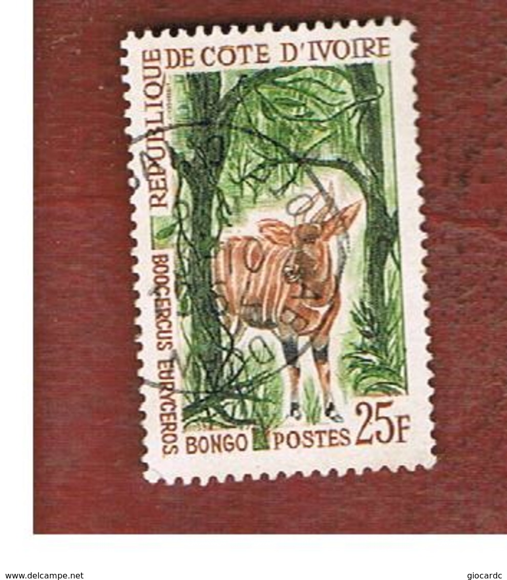 COSTA D'AVORIO (IVORY COAST) - SG 234 -   1963  ANIMALS: BONGO  -  USED ° - Costa D'Avorio (1960-...)