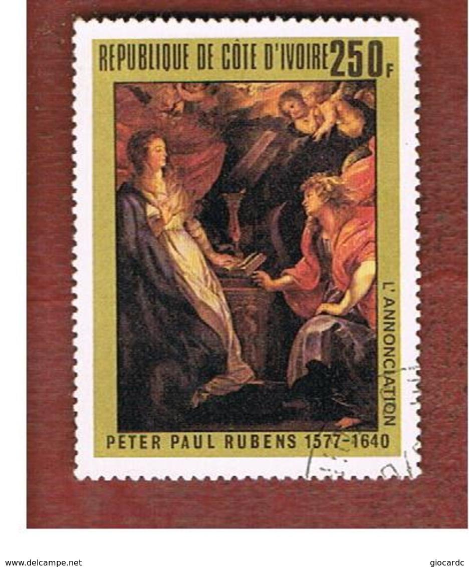 COSTA D'AVORIO (IVORY COAST) - SG 527   -   1978 P.P. RUBENS: ANNUNCIATION -  USED ° - Costa D'Avorio (1960-...)