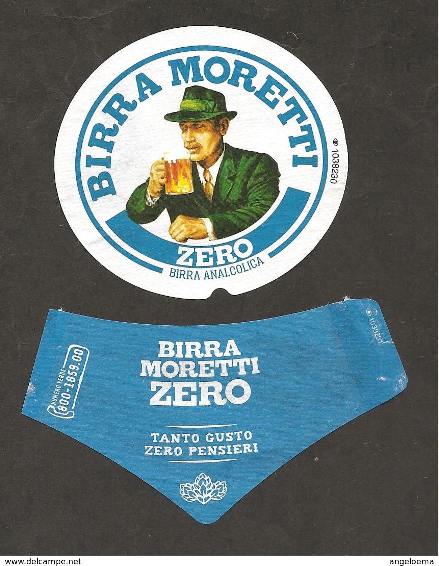 ITALIA - Etichetta Birra Beer Bière MORETTI ZERO Birra Analcolica TANTO GUSTO ZERO PENSIERI - Birra