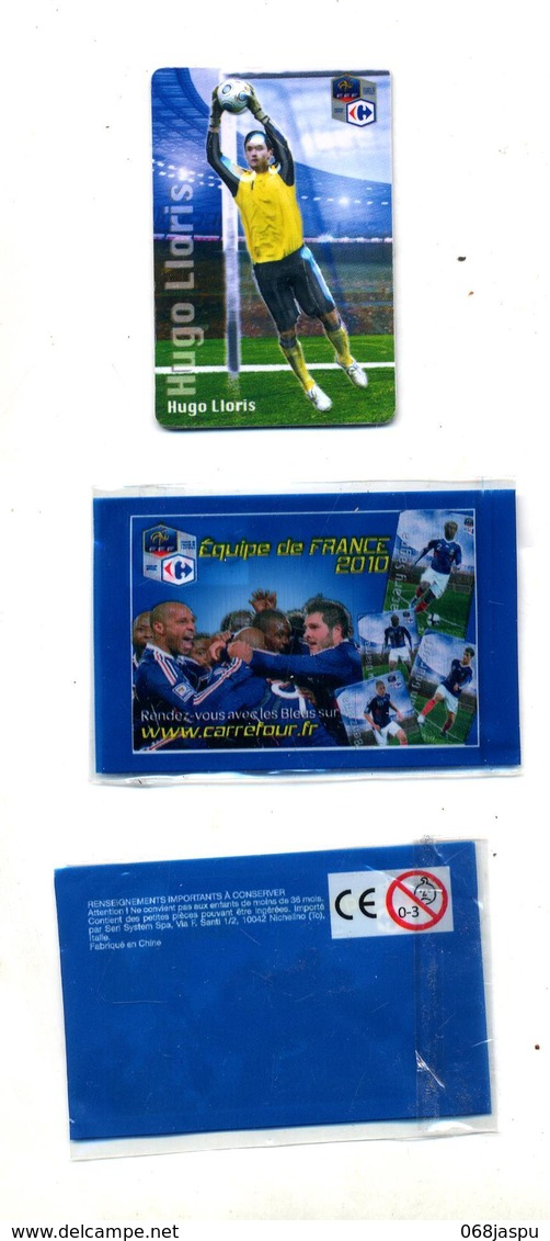 Magnet Carrefour Equipe France Football 2010  Lloris + Pochette - Sport