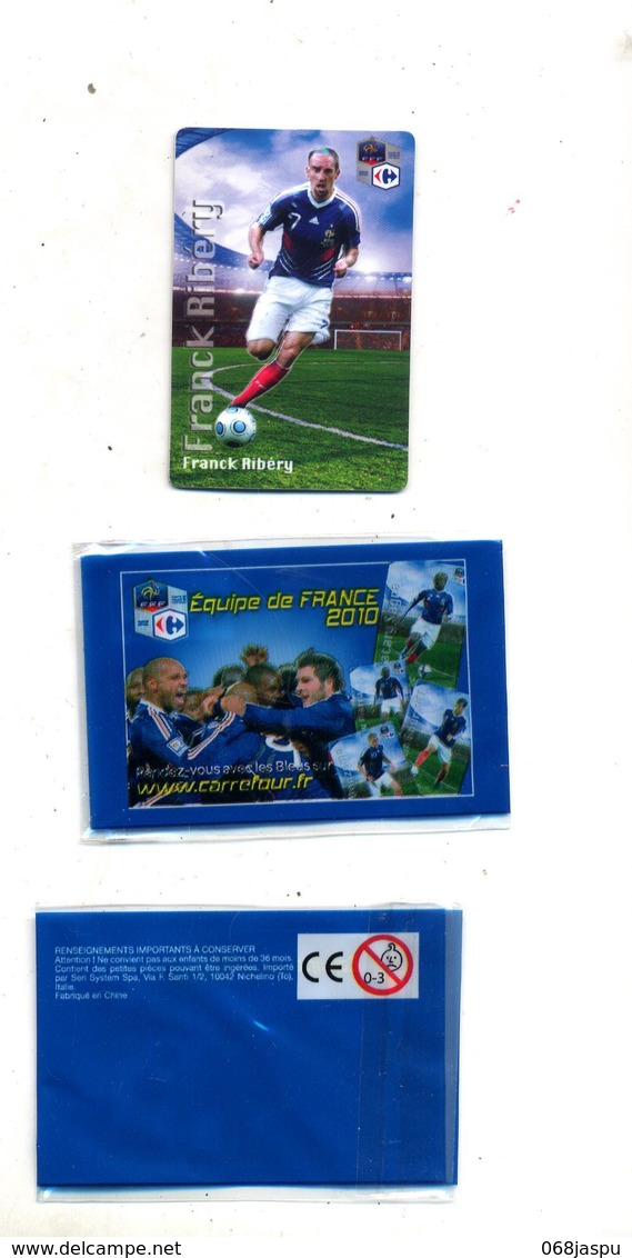 Magnet Carrefour Equipe France Football 2010  Ribery + Pochette - Sports