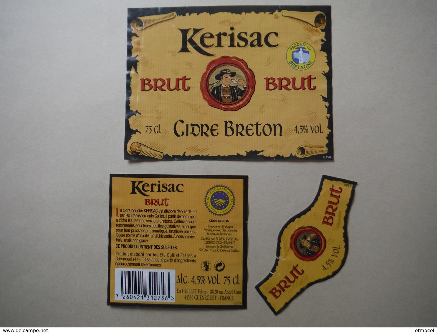 Cidre Breton Brut Kerisac - Ets Guillet Frères à Guenrouet - Labels