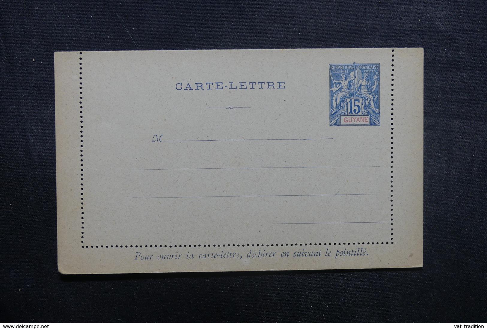 GUYANE - Entier Postal ( Carte Lettre ) Type Groupe Non Circulé - L 37969 - Guyane Française (1886-1949)