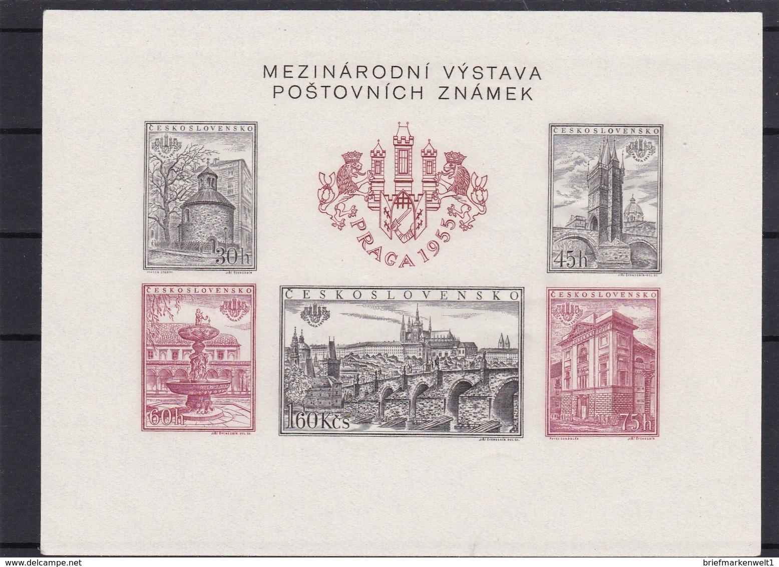 (K 4345d) Tschechoslowakei, Block 16 B** - Blocks & Sheetlets