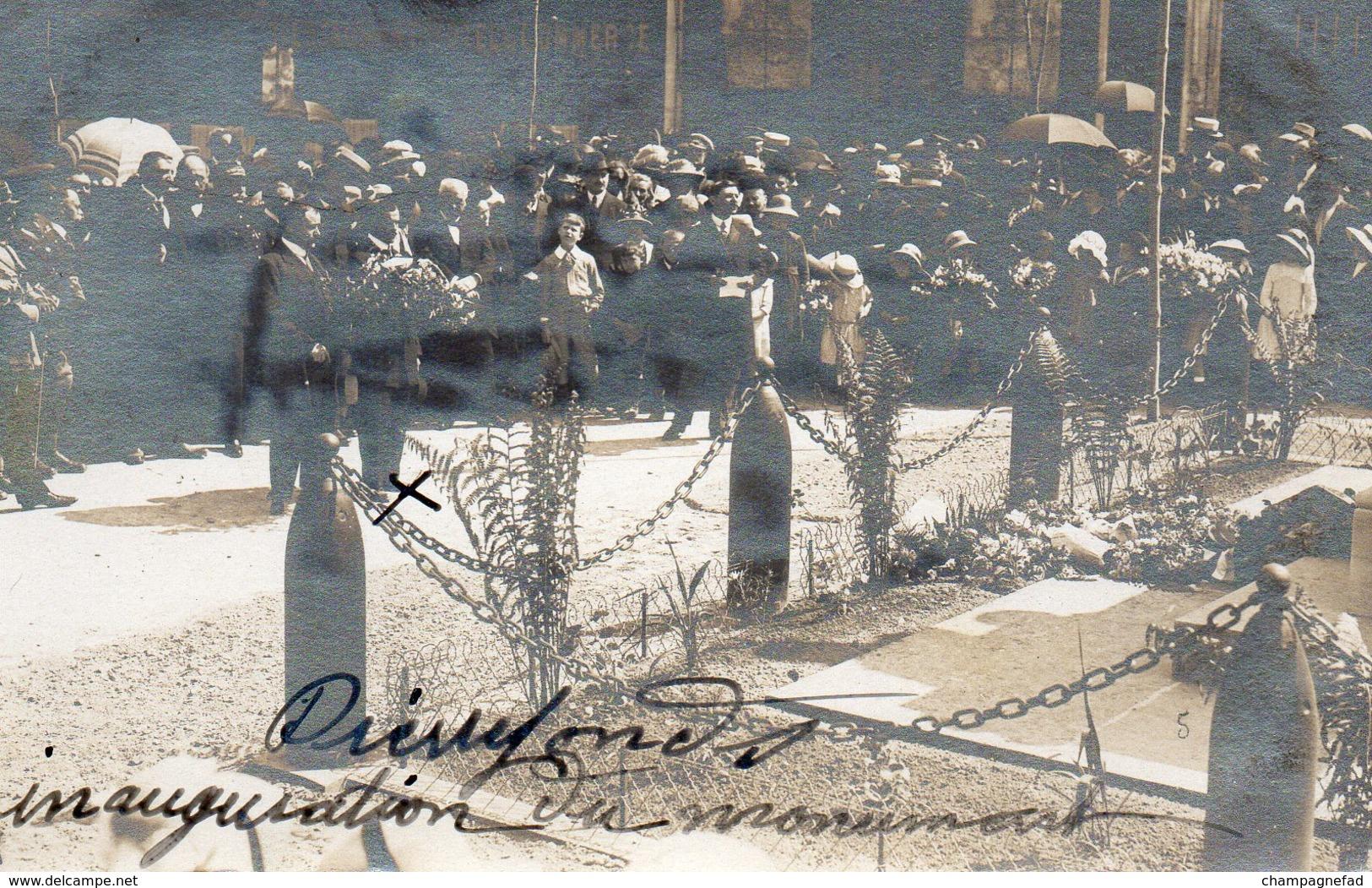 PIERREFONDS 60, CARTE PHOTO, INAUGURATION DU MONUMENT - Pierrefonds