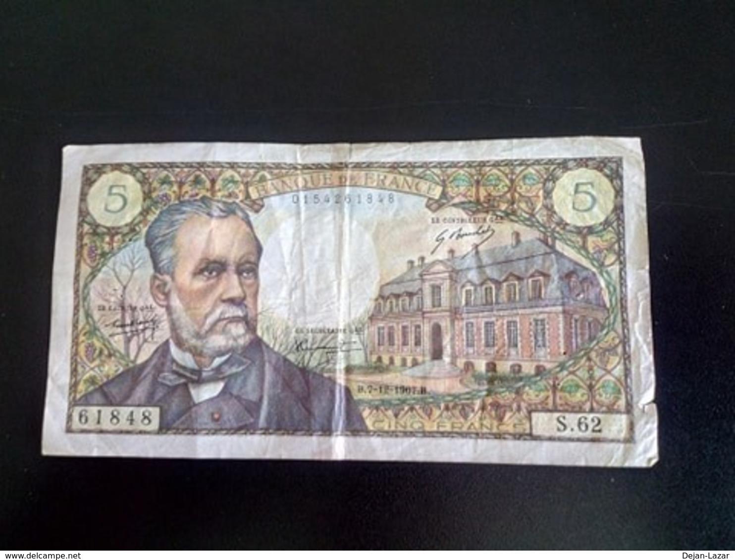 5 Francs Pasteur - 5 F 1966-1970 ''Pasteur''