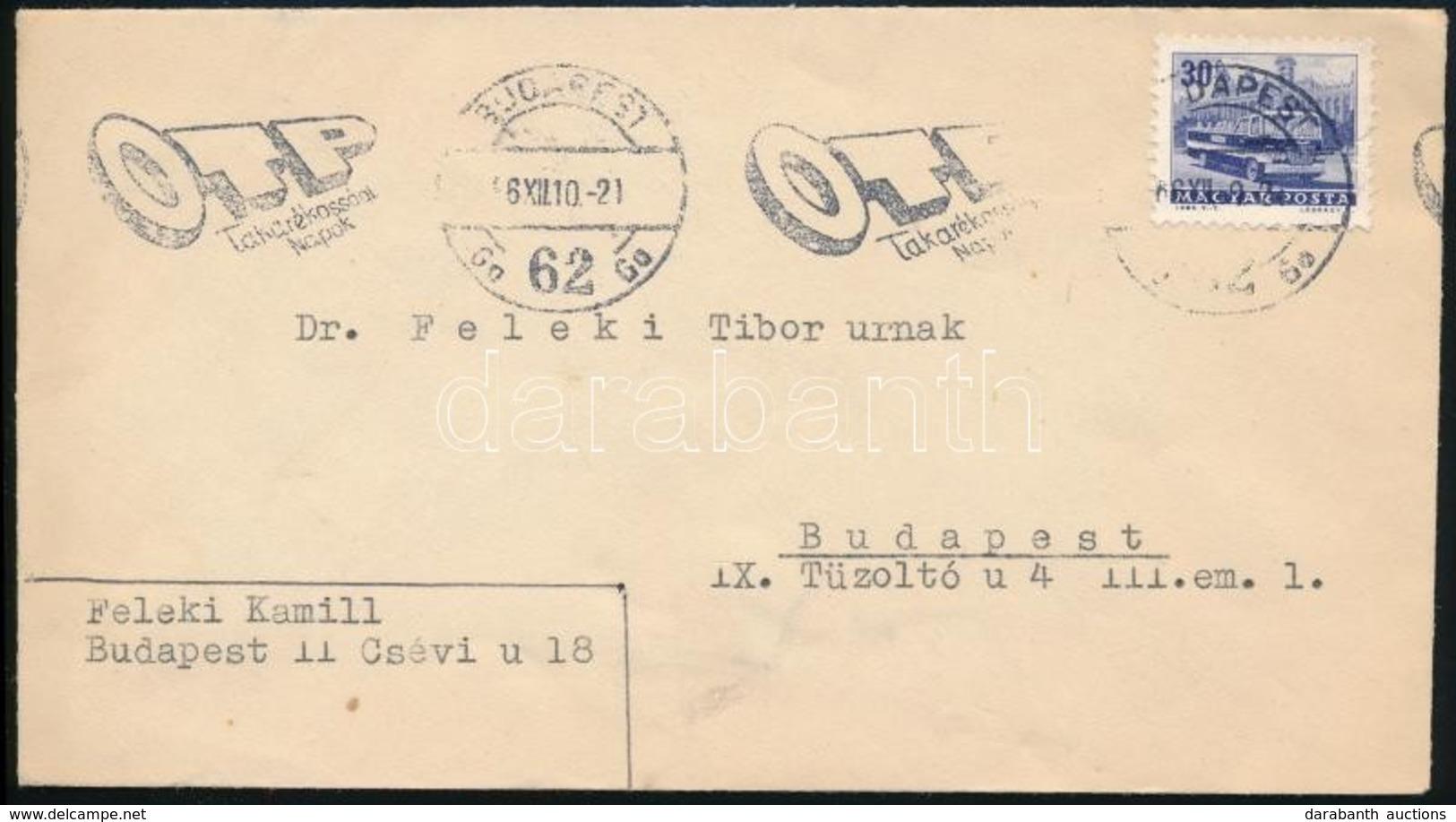1966 Helyi Levél, Feladó Feleki Kamill - Timbres
