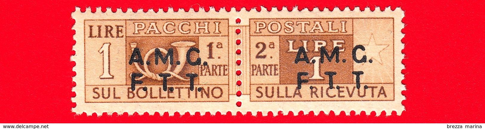 Nuovo - MNH - ITALIA - Trieste - AMG FTT - 1947-48 - Corno Di Posta, Soprastampa Su Due Righe - Pacchi Postali - 1 - 7. Triest